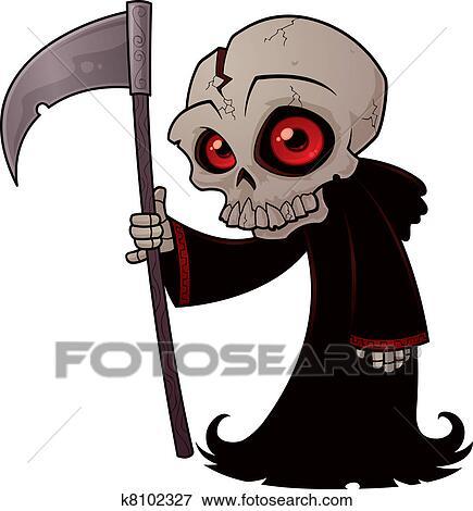 clip art of little grim reaper k8102327 search clipart rh fotosearch com grim reaper clip art free images