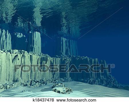 Stock Illustration Of 3D Ocean Floor K18437478