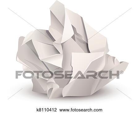 clipart boule papier chiffonn e k8110412 recherchez des clip arts des illustrations des. Black Bedroom Furniture Sets. Home Design Ideas