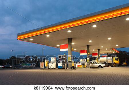 Stock photo of gas station k8119004 search stock images for Cleveland gas station mural