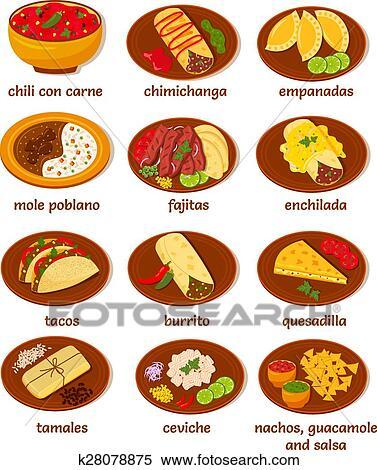 Popular Mexican Food Quesadilla Fajita Empanada
