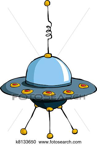 clipart of flying saucer k8133650 search clip art illustration rh fotosearch com Flying Saucer Cliparrt Flying Saucer Cliparrt