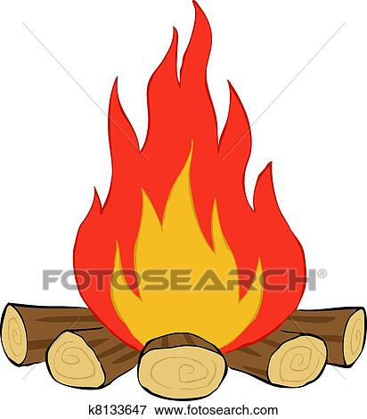 Clip Art Bonfire Clipart bonfire clipart and illustration 6883 clip art vector bonfire