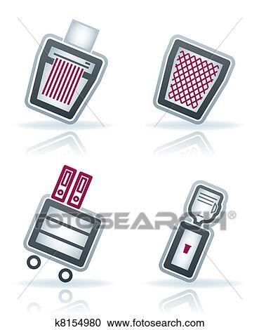 Bürobedarf clipart  Clipart - bürobedarf k8154980 - Suche Clip Art, Illustration ...