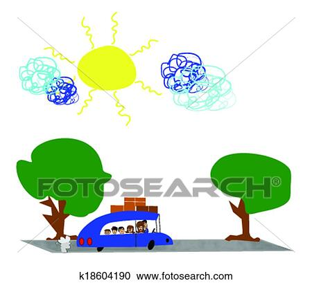 Clipart Of Vacation Time Cartoon K18604190 Search Clip Art Rh Fotosearch Com