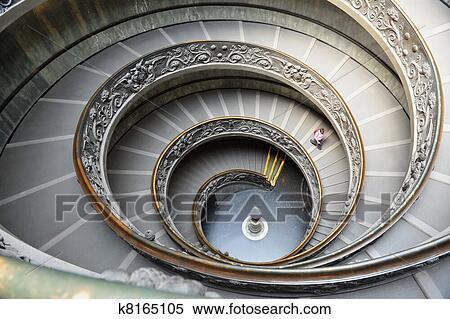 Banque d 39 image escalier spirale de vatican mus e for Escalier spirale