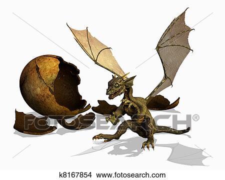 Dessins b b dragon k8167854 recherche de clip arts d 39 illustrations et d 39 images - Dessin de bebe dragon ...