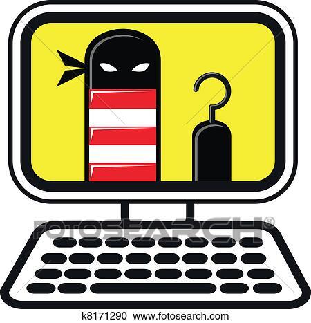 clipart of cyber crime k8171290 search clip art illustration rh fotosearch com cyber crime clipart crime prevention clipart free