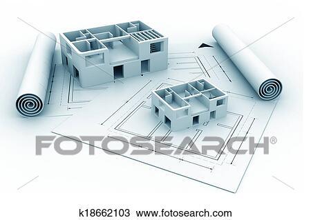 手绘图 - 3d, 建筑学,