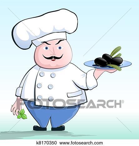 Clipart cuisinier a v g tarien k8170350 recherchez for Cuisinier vegan