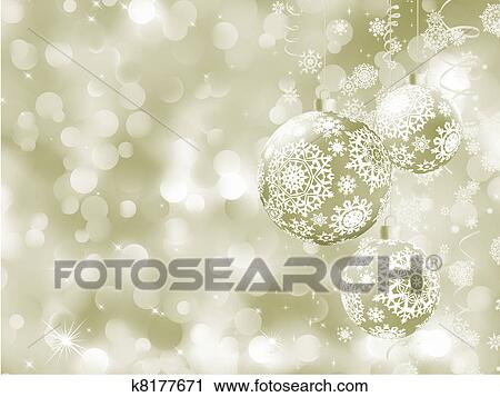 Clipart elegante weihnachten kugeln auf abstrakt for Elegante wandbilder