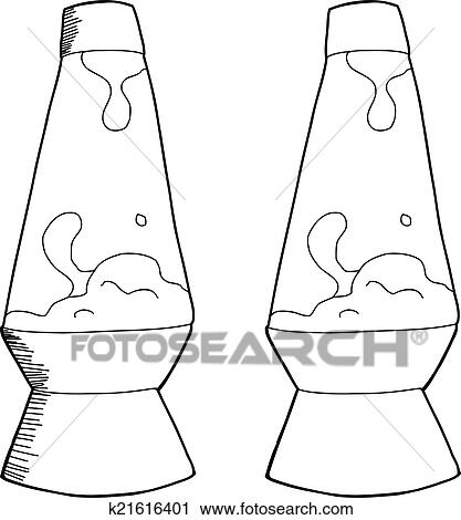 Clipart   Outlined Lava Lamp. Fotosearch   Search Clip Art, Illustration  Murals, Drawings