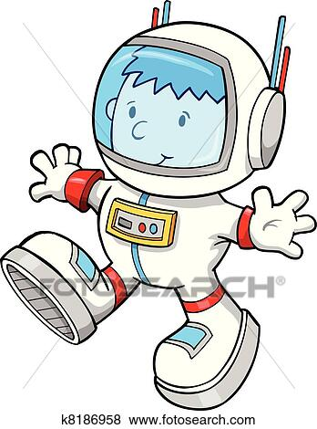 clip art of astronaut color cartoon boy vector k8186958 search rh fotosearch com clipart astronaut black and white clipart astronaute