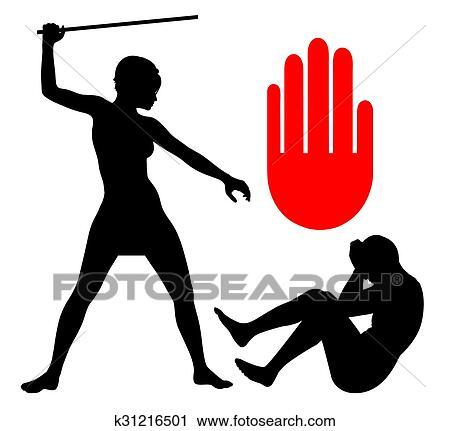 clipart of domestic violence against men k31216501 search clip art rh fotosearch com domestic violence awareness clipart free domestic violence purple ribbon clipart