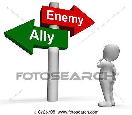 Pictures of Allied Enemy Signpost Shows Friend Or Foe ...