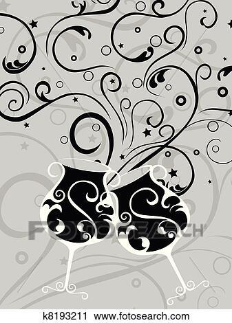 Clipart elegante hintergrund mit k nstlerisch for Elegante wandbilder