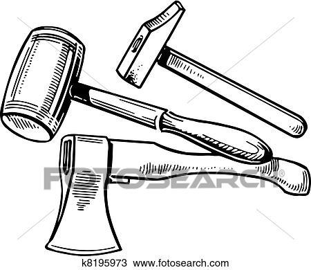 Clipart gereedschap k8195973 zoek clipart illustratie for Logo drawing tool