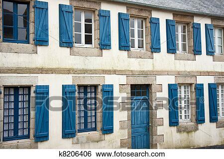 Banco de imagens fachada de tradicional breton casas for Fachada tradicional