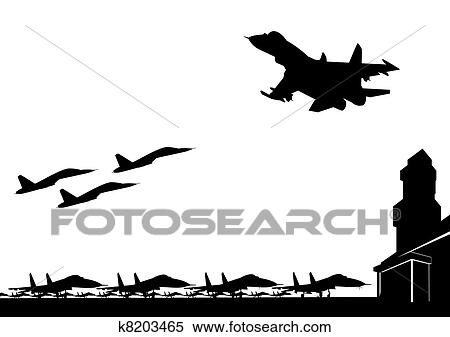 Military Plane Clipart Black And White