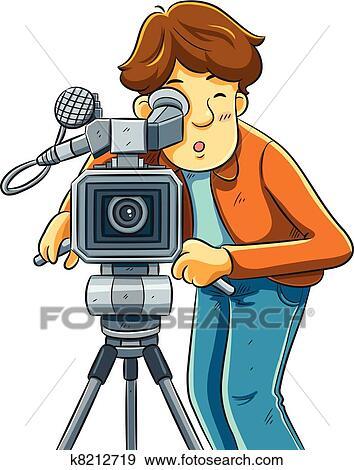 Clip art c mara reto o el cine k8212719 buscar clip - Clipart cinema gratuit ...