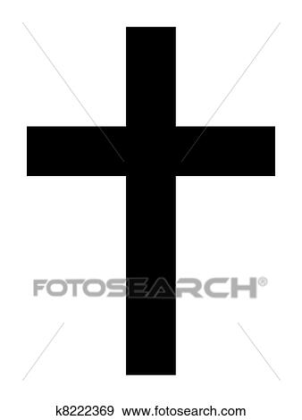 stock illustration of christian cross k8222369 search vector rh fotosearch com cross vector file cross vector free