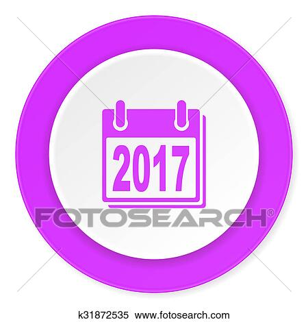 banque d 39 image nouvel an 2017 violet rose cercle 3d moderne plat conception ic ne. Black Bedroom Furniture Sets. Home Design Ideas