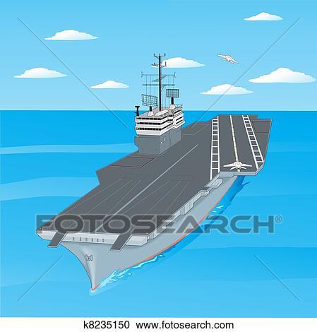 Clipart piani decollare da il ponte di un for Piani di ponte ottagonale