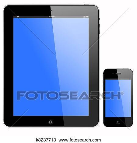 clipart pc tablette et smartphone k8237713 recherchez des clip arts des illustrations. Black Bedroom Furniture Sets. Home Design Ideas