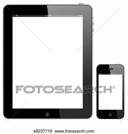 clipart pc tablette et smartphone k8237716 recherchez des cliparts des illustrations des. Black Bedroom Furniture Sets. Home Design Ideas