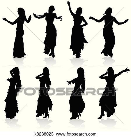 Clipart of belly dance k3019210 - Search Clip Art, Illustration ...