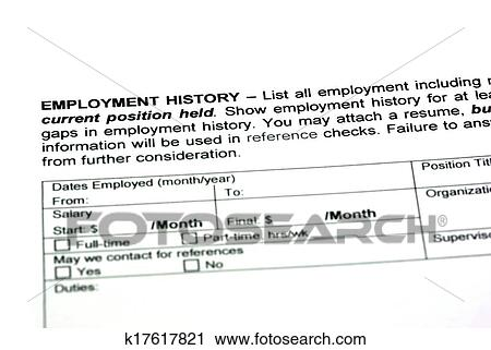 Clipart of Employment history k17617821 - Search Clip Art ...