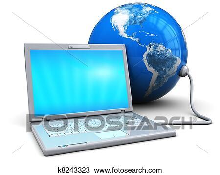手绘图 - 笔记本电脑,