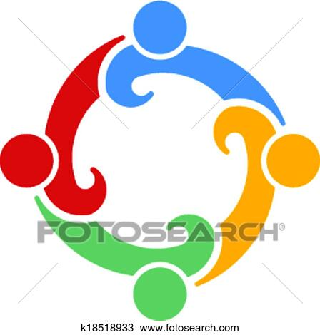 clipart of teamwork convention 4 vector k18518933 search clip art rh fotosearch com clipart teamwork collaboration clip art teamwork pictures