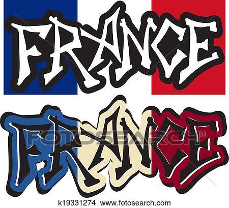 Kleiderständer clipart  Clipart - frankreich, wort, graffiti, verschieden, style., vektor ...