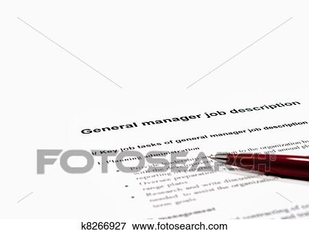 Picture Of General Manager Job Description K  Search Stock