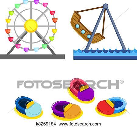 Dessins parc attractions attachez art k8269184 recherche de clip arts d 39 illustrations et d - Dessin auto tamponneuse ...