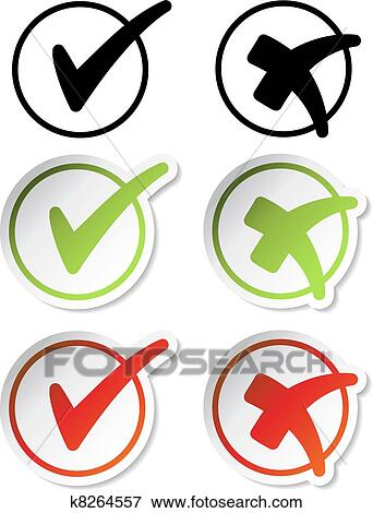 clip art of vector check mark stickers k8264557 search clipart rh fotosearch com sticker clip art free stickers clipart black and white