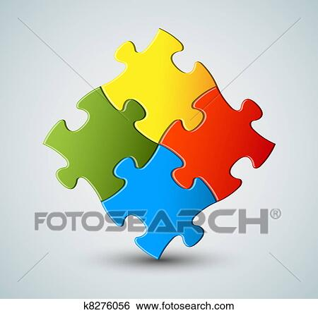 Clip Art Vector puzzle solution background Fotosearch Search