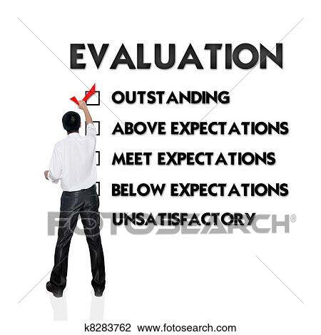 Stock Photo Of Employee Evaluation Form With Business Man Selecting