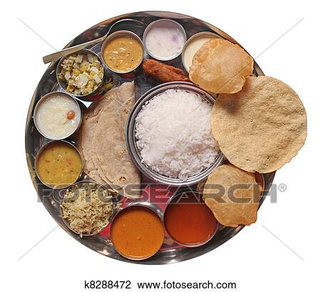 Stock Photo of Traditional indian lunch food and meals ...