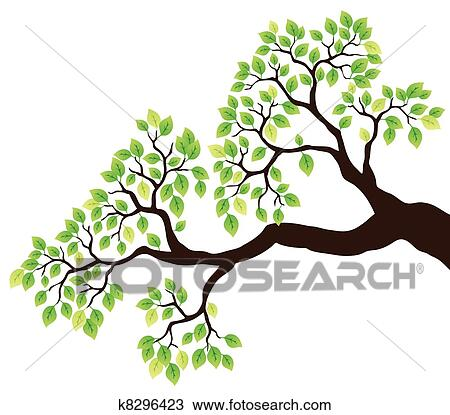 clipart of tree branch with green leaves 1 k8296423 search clip rh fotosearch com tree branch clip art free tree branch clipart free