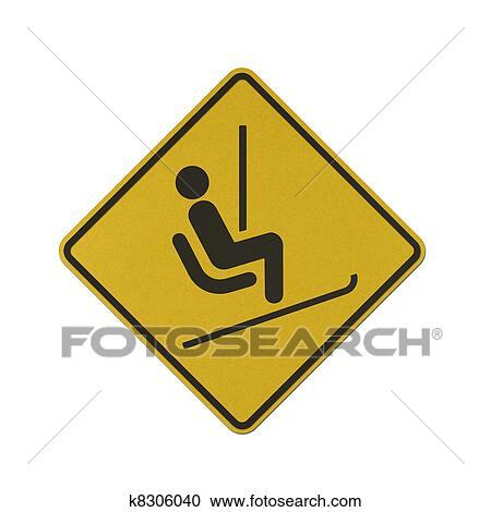 Panneau directionnel dessin