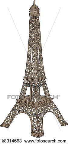 绘图- 埃菲尔铁塔, 在
