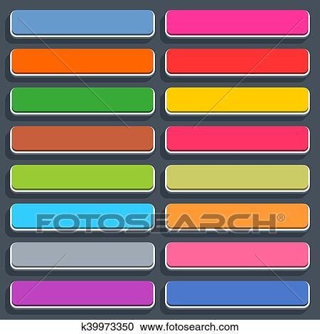 剪贴画 - 套间, 空白, 网, 按钮, 长方形, 图标, 带, 遮蔽.图片