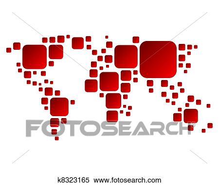 全国版抽象地图