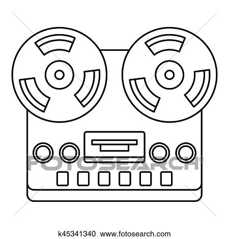 免版税(rf)类图片 - 模拟, 立体声, 打开, 卷筒, 磁带甲板, 录音机图片