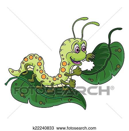 clipart of caterpillar leaves k22240833 search clip art rh fotosearch com caterpillar clipart outline caterpillar clip art for kids