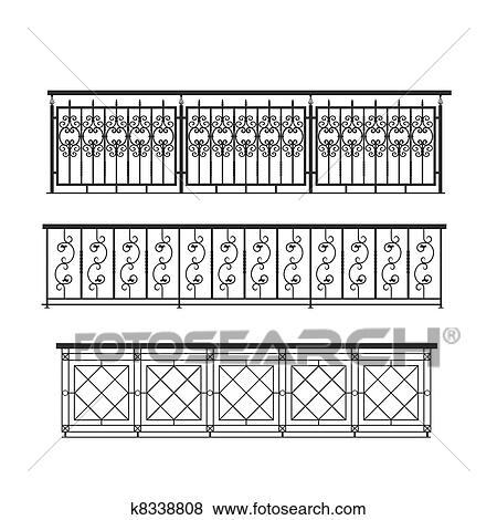 disegno Railing veranda : Immagini - ringhiera, parapet, metallo, per, esterno k8338808 - Cerca ...