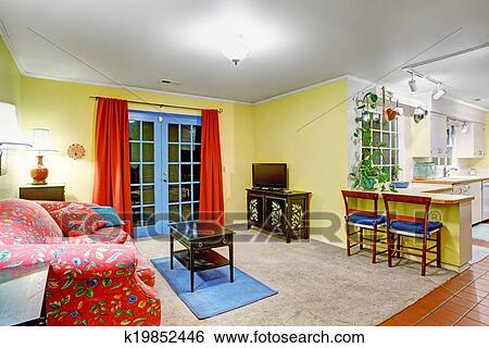 Stock Images Of House Interior Open Floor Plan K19852446
