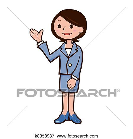clip art of guide woman s illustration k8358987 search clipart rh fotosearch com clipart guide touristique guidance clipart